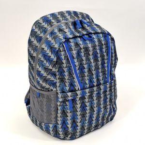 Lands' End ClassMate Backpack Vibrant Blue Geo